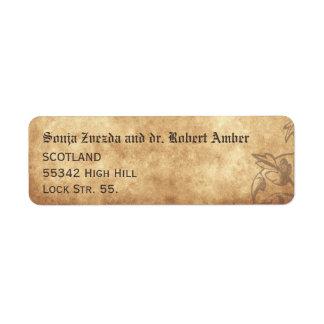 Medieval Wedding Return Label Return Address Label