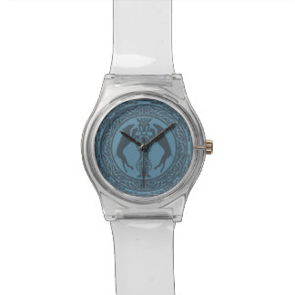 MEDIEVAL WEIM BLUE WATCH FACE WITH CLEAR PLASTIC