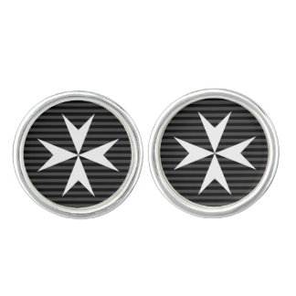 Medieval white cross | Order of St John (UK) Cufflinks