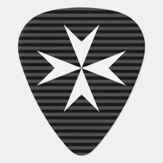 Medieval white cross | Order of St John (UK) Guitar Pick