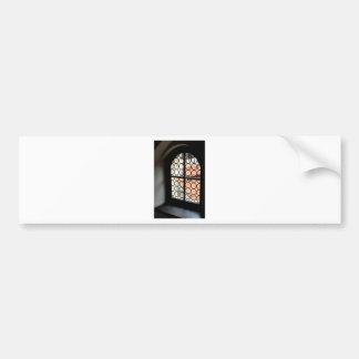 Medieval window bumper sticker