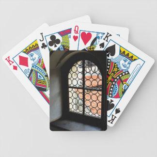Medieval window poker deck