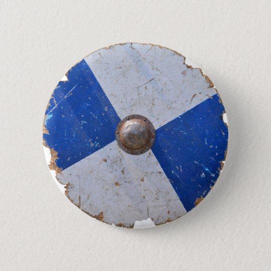 medieval wood metal shield war weapon knight 2 inch round button