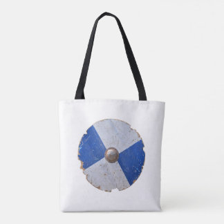 medieval wood metal shield war weapon knight armor tote bag