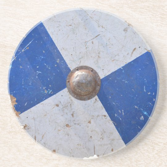 medieval wood metal shield war weapon knight coaster
