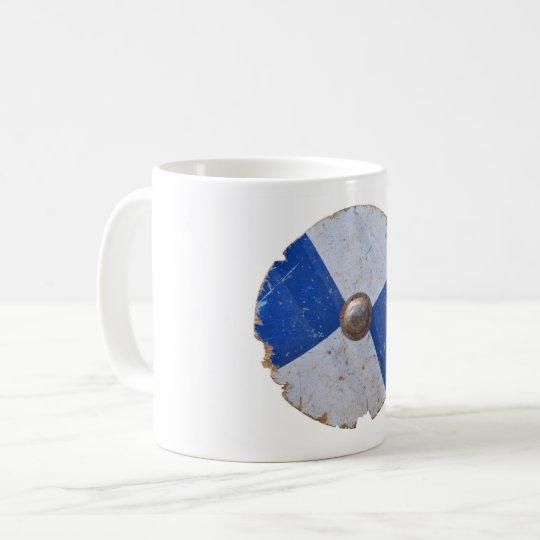 medieval wood metal shield war weapon knight coffee mug