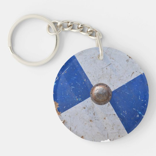 medieval wood metal shield war weapon knight keychain