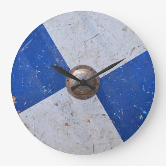 medieval wood metal shield war weapon knight large clock