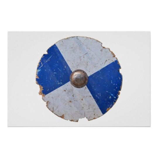 medieval wood metal shield war weapon knight poster