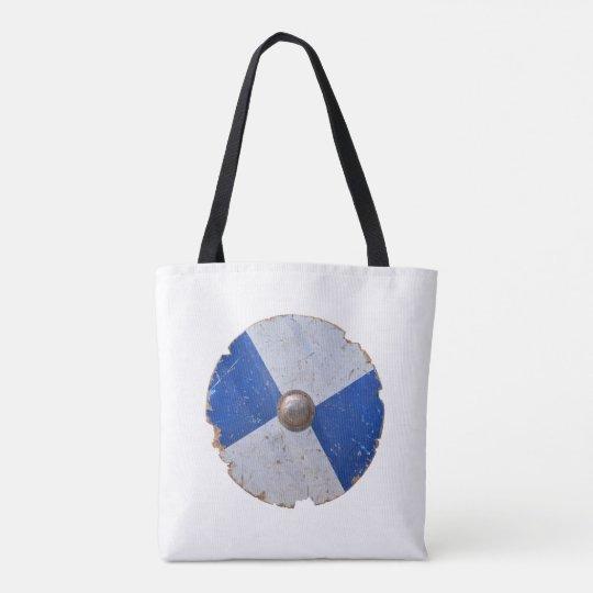 medieval wood metal shield war weapon knight tote bag