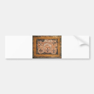 medieval wood painting art vintage old dark Gothic Bumper Sticker