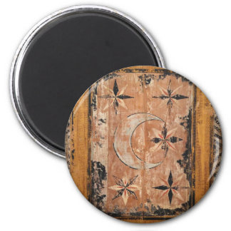 medieval wood painting art vintage old dark Gothic Magnet