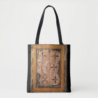 medieval wood painting art vintage old dark Gothic Tote Bag
