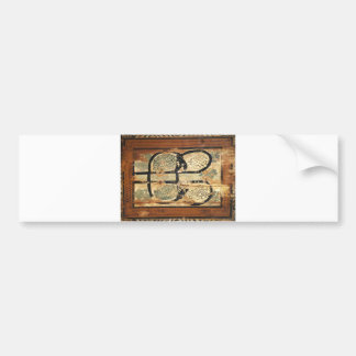 medieval wood painting art vintage old history bumper sticker
