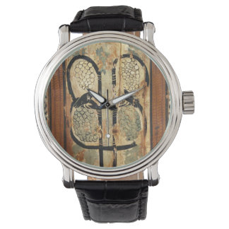 medieval wood painting art vintage old history watch