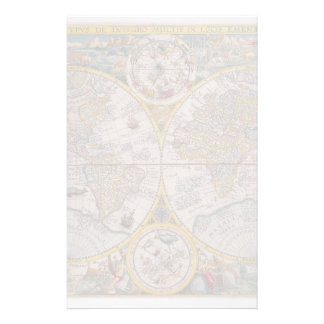 Medieval World Map From 1525 Stationery Design
