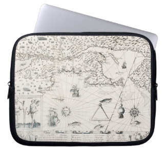 Medieval World map Quebec Nouvelle-France America Laptop Sleeve