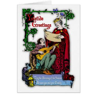 Medieval Yuletide Greetings Card