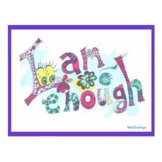 Medilludesign - affirmation I am enough Postcard