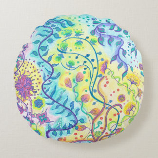 Medilludesign - Be flexible Express your freedom Round Pillow