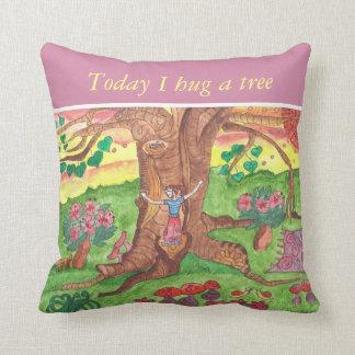 Medilludesign - Hug a Tree Throw Pillow