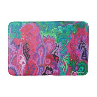 Medilludesign Inner Garden violet green Bath Mat