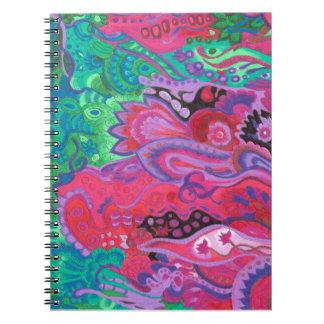 Medilludesign Inner Garden violet green Notebook
