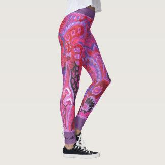 Medilludesign Inner Garden violet Leggings