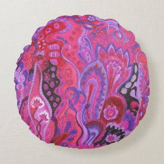 Medilludesign Inner Garden violet Round Pillow