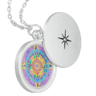 Medilludesign - Mandala Meditation Locket Necklace