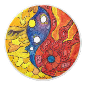 Medilludesign Moon Sun Ceramic Knob