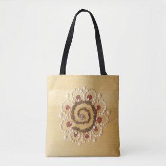 Medilludesign - Spiral flower Tote Bag