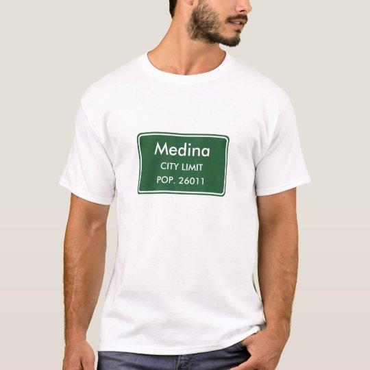 Medina Ohio City Limit Sign T-Shirt