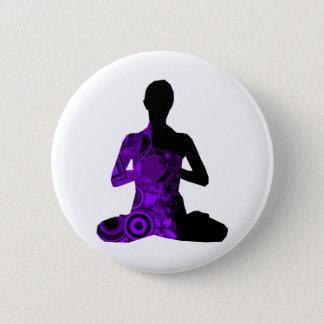meditate 2 inch round button