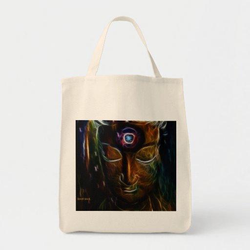 Meditate Tote Bags