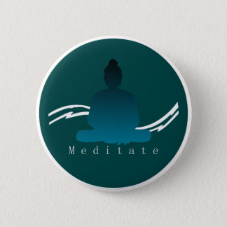 """Meditate"" Beautiful Buddha. 2 Inch Round Button"