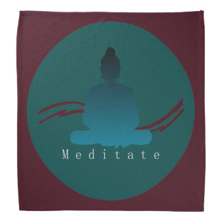 """Meditate"" Beautiful Buddha. Bandana"