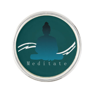 """Meditate"" Beautiful Buddha. Lapel Pin"