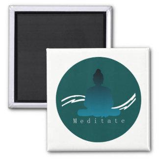 """""""Meditate"""" Beautiful Buddha. Magnet"""