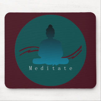 """""""Meditate"""" Beautiful Buddha. Mouse Pad"""
