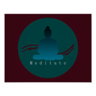 """Meditate"" Beautiful Buddha. Poster"