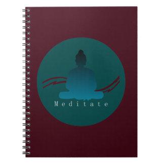 """""""Meditate"""" Beautiful Buddha. Spiral Notebook"""