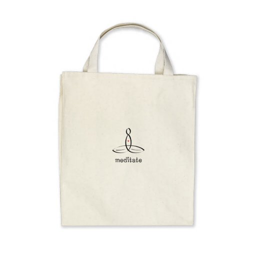 Meditate - Black Fancy style Canvas Bags