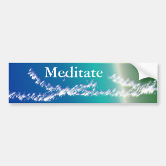 Meditate Bumper Sticker