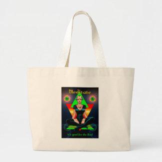 Meditate Jumbo Tote Bag