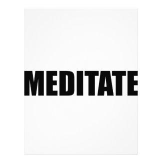 Meditate Letterhead