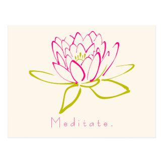 Meditate. Lotus Flower Postcard