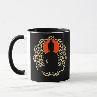 Meditate Silhouette Spiritual Relaxing Design Mug