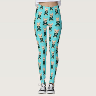 Meditate with the cute Frenchie to stay Zen Leggings