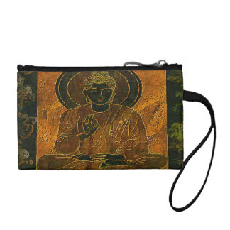 Meditating Buddha 3 Coin Purse